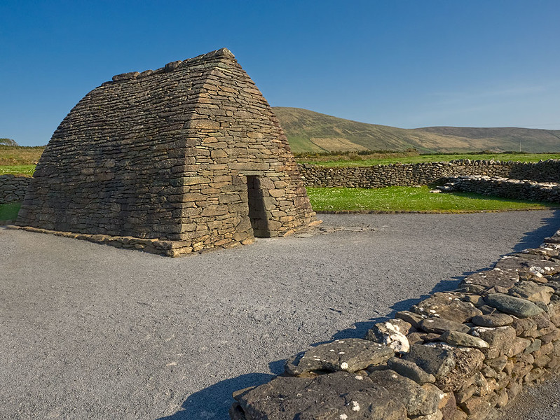 Gallarus Oratory, an early Christian Church on the Dingle Peninsula of Ireland