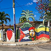 This revolutionary mural is one of dozens created by Proyecto Fuster in a Havana, Cuba neighborhood