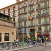 Old buildings are being restored in the Raval District of Barcelona, Spain