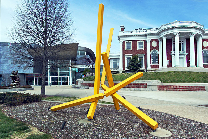Sculpture in front of the Hunter Museum of American Art in Chattanooga, Tennessee