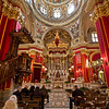 Opulent interior of Saint Publius Church in Floriana, on the island of Malta