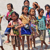 Hill Tribe Children Meet Our Boat During a Cruise Down the Mekong River in Laos