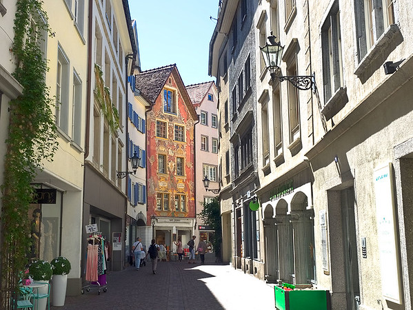 The Old Town in Chur is one of the best in all of Switzerland. Its narrow streets and winding alleys are car-free and are home to scores of shops, cafes, restaurants, hotels, and bars.