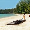 Long expanse of virtually deserted beach on Koh Mak island, Thailand