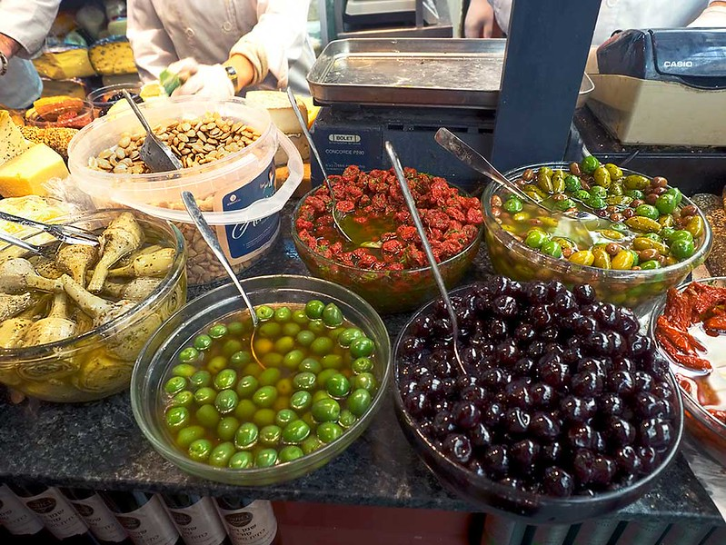 The deli bar at Basher Fromagerie (cheese shop) at Machane Yehuda Market in Jerusalem, Israel