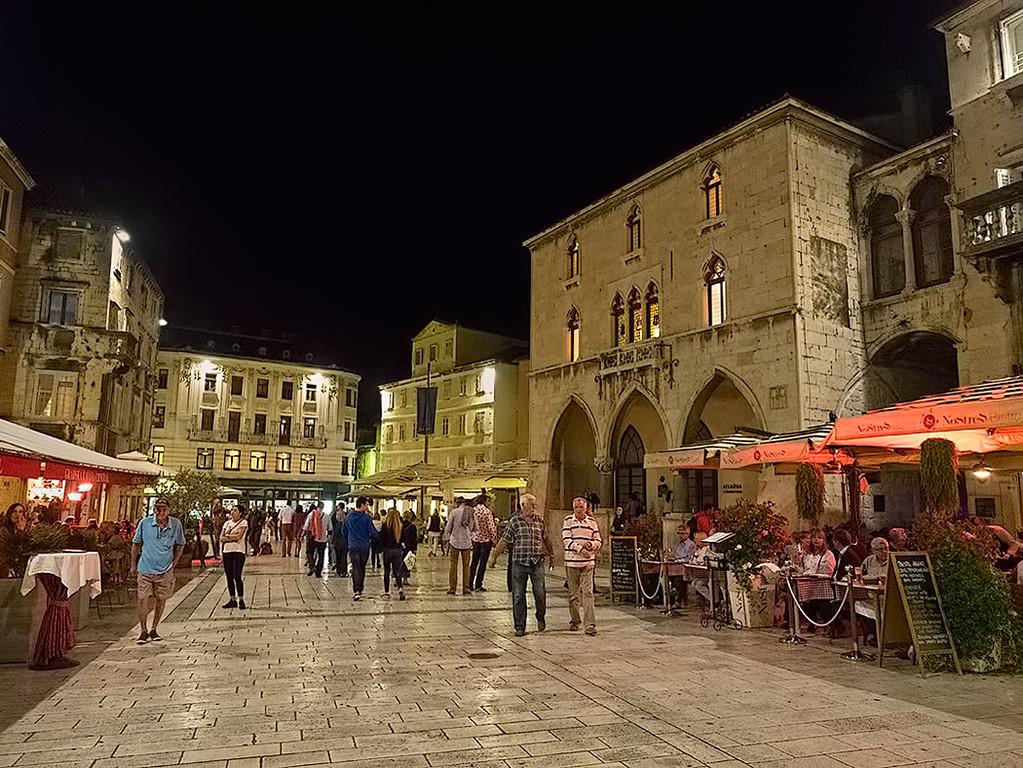 Narodni Trg (People's Square), in the old town area of Split, Croatia