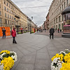 Little Konushennaya Street in city center of St. Petersburg, Russia
