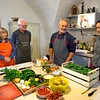 Chef Antonio reviews what we will be preparing for the midday meal during my cooking vacation in Puglia, Italy with Flavours Holidays