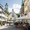 Historic St. Johann Church anchors one end of  Marktplatz in the medieval Old Town of Feldkirch, Austria
