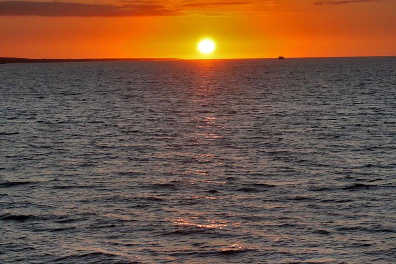 Sunset over Fenandina Island, Galapagos, Ecuador