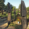 Boat-shaped headstones in the cemetery of Szatmarcseke in eastern Hungary, found nowhere else in the world