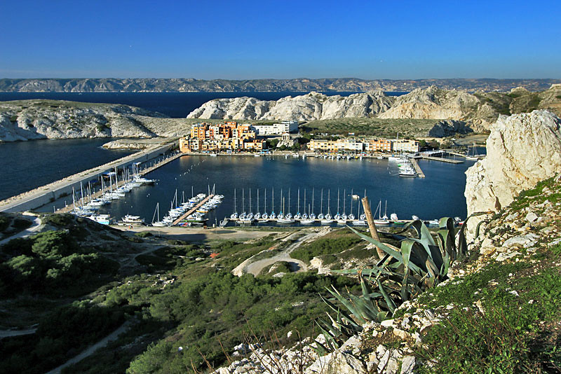 Harbor at Frioul Islands, just offshore from Marseille, France