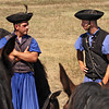 Herdsmen in traditional dress at Hortobagy National Park in eastern Hungary