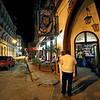 Cozy Castillo de Farnes Bar and Cafe in Old Havana, Cuba, was once a favorite gathering place for Castro Revolutionaries