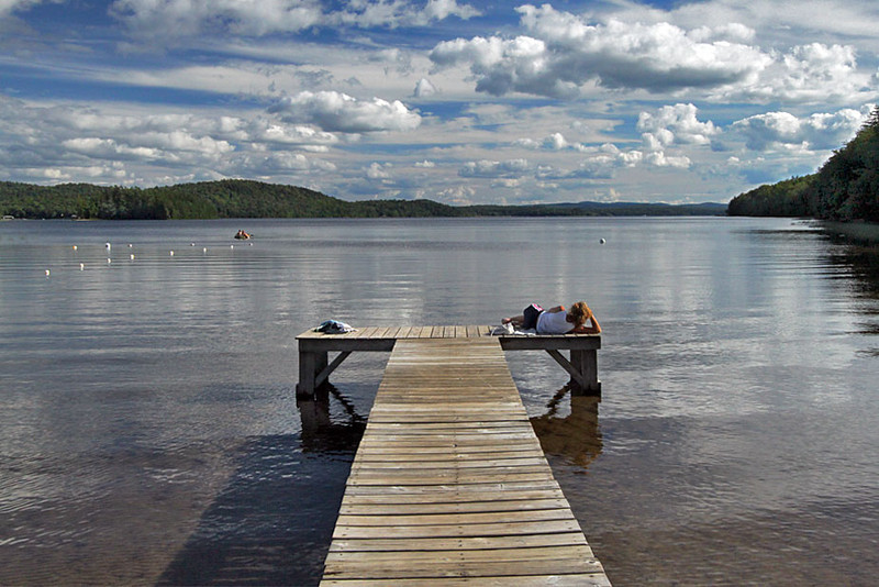 Summer day on Piseco Lake in the Adirondack Mountains of New York