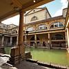 The Great Bath at the historic Roman Baths in Bath, England
