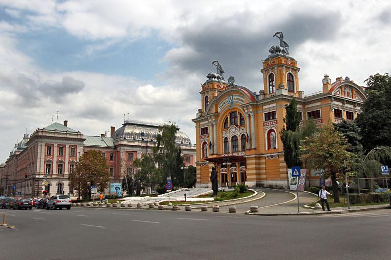 Neo-Baroque Lucian Blaga National Theater in Cluj-Napoca, Romania