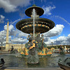 Fountain and Obelisk, Plaza de la Concorde, Paris, France