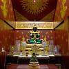 Emerald Buddha at Wat Nantaram in Chiang Mai, Thailand