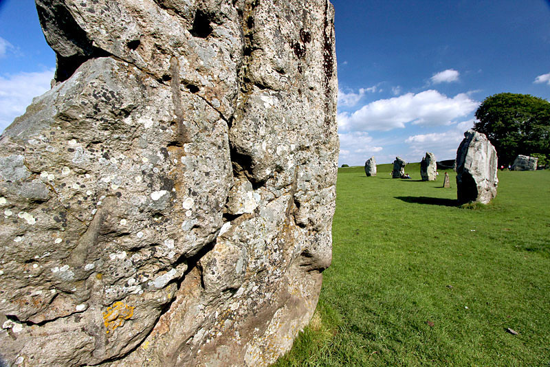 Avebury Henge in southwest England is the largest stone circle in Europe
