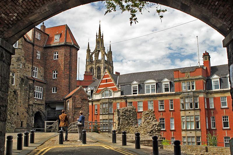 City scene in Newcastle, England, taken from Black Gate