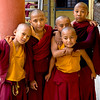 Novice monks at the Sakya Tharig Monastery near the UNESCO World Heitage Boudhanath Stupa in Kathmandu, Nepal