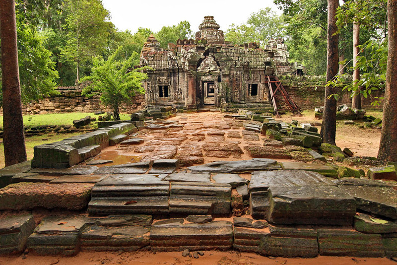 Ta Som ruins at Angkor Wat, Cambodia