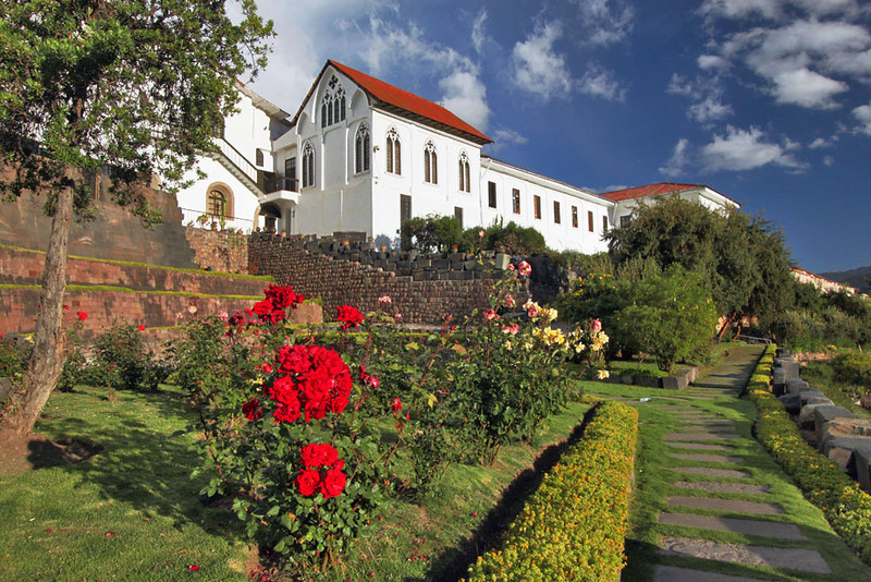 Gardens at Church of Santo Domingo and Quoricancha, Cusco, Peru