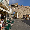 Porta Catania, one of the original gates into the city of Taormina, Sicily, Italy
