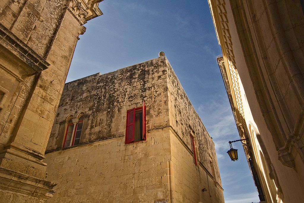 Blue skies and golden limestone complement one another in Mdina, the ancient capital of Malta