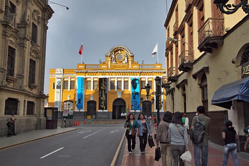 Casa de Literatura in the historic center of Lima, Peru