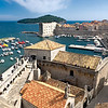 City harbor of Dubrovnik, Croatia, seen from atop old city walls