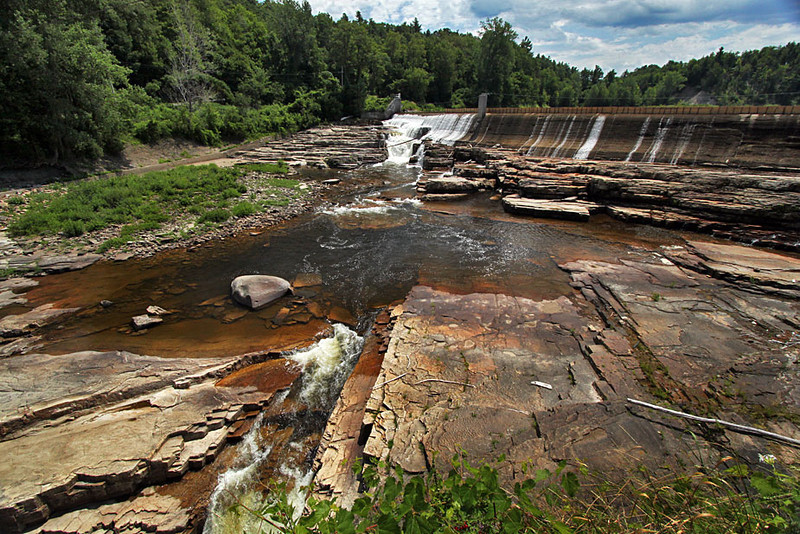 Spillway on the AuSable River in Keesesville, New York