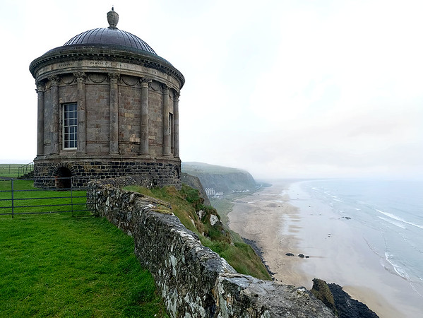 Mussenden Temple at Downhill Palace, on the Coastal Causeway in Northern Ireland