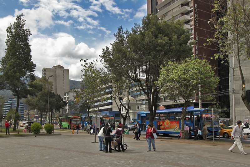 Typical street scene in central Quito