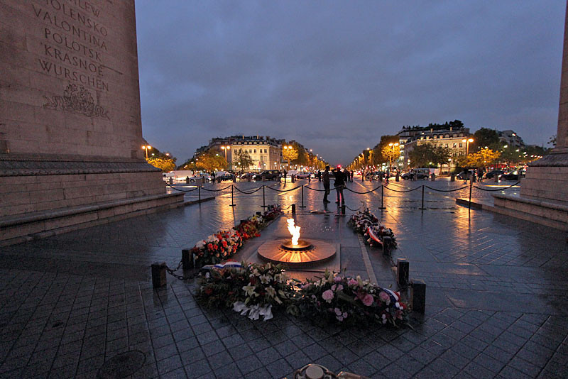 Tomb of the Unknown Soldier at Arc de Triomphe, Paris, France