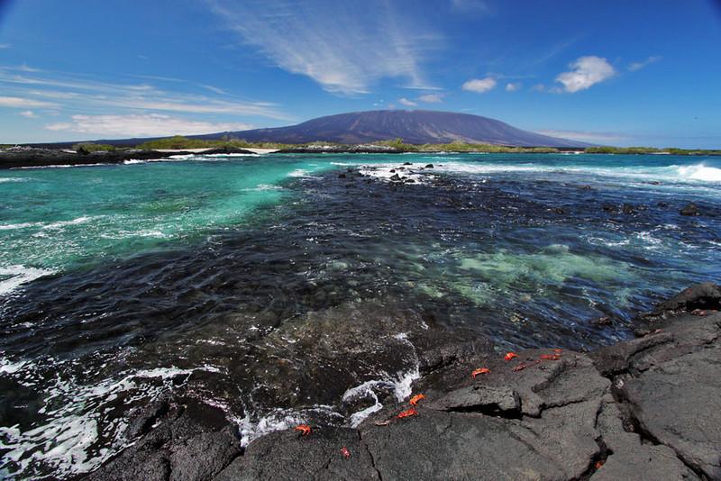 Fernandina Island in the Galapagos Islands of Ecuador