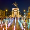 "Centerpiece of Skopje, Macedonia is Macedonia Square, dominated by the ""Warrior on a Horse"" statue and fountain. Though meant to depict Alexander the Great, the sculpture is not named for him, due to an ongoing dispute with Greece over cultural claims on such historical figures."