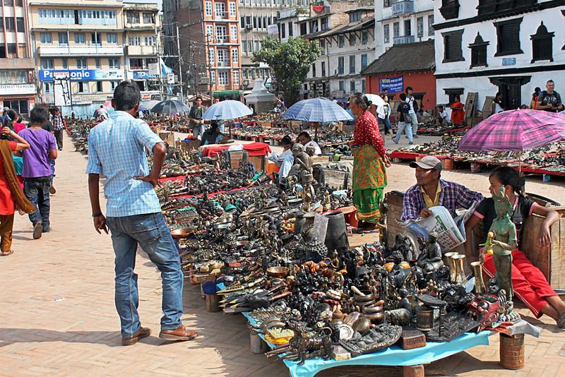 Vendors Line The Streets Around Durbar Square in Kathmandu, Nepal