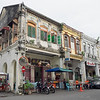 "Chinese Shophouse Row in George Town, on the island of Penang, Malaysia, built in the ""Early Straits"" eclectic style, between 1890 and 1910"