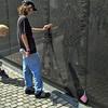Finding a family member killed in the Vietnam War at the Vietnam Veterans Memorial in Washington, DC