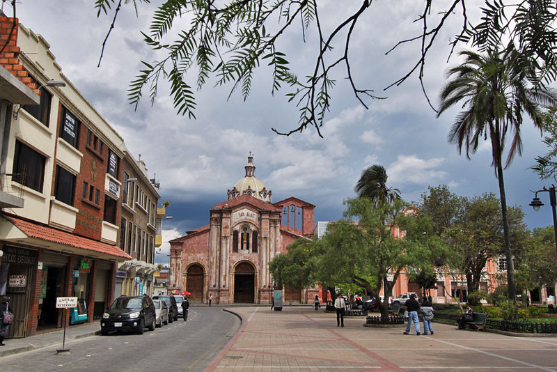 San Blas Church and Plaza in Old Town, Cuenca, Ecuador