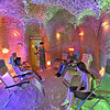 Taking a treatment at the Galos Salt Cave in Poznan, Poland