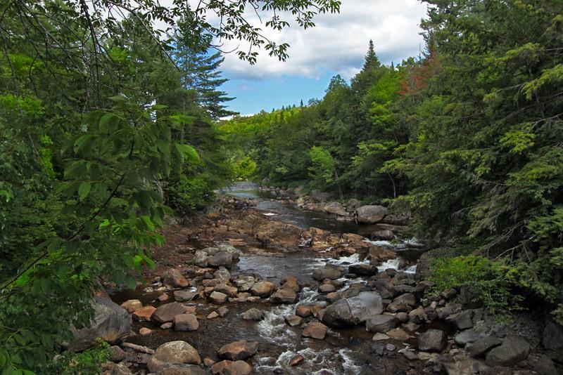Boulder strewn creek below Auger Falls in Adirondack Park, upstate New York