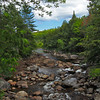 Boulder strewn creek below Auger Falls in Adirondack Park, upstate New York