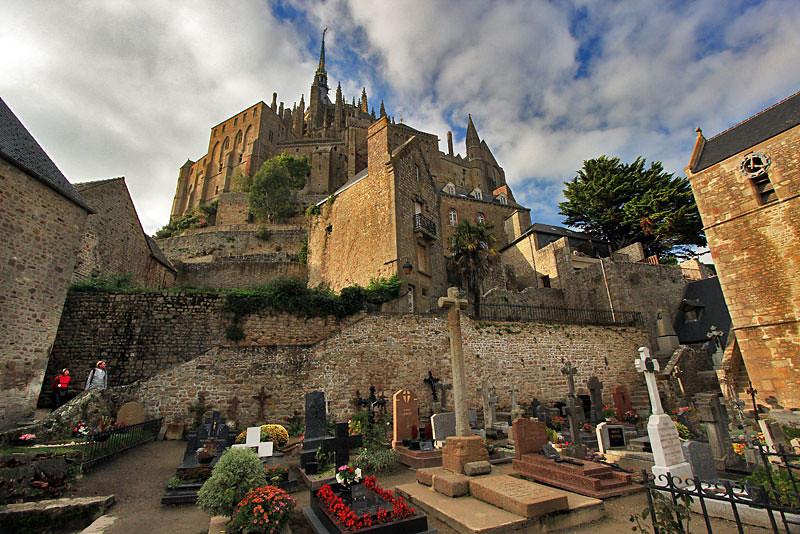 Cemetery below Mont Saint Michel, Normandy, France