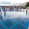 The Sun, part of a to-scale representation of the Solar System on the Riva in Zadar, Croatia