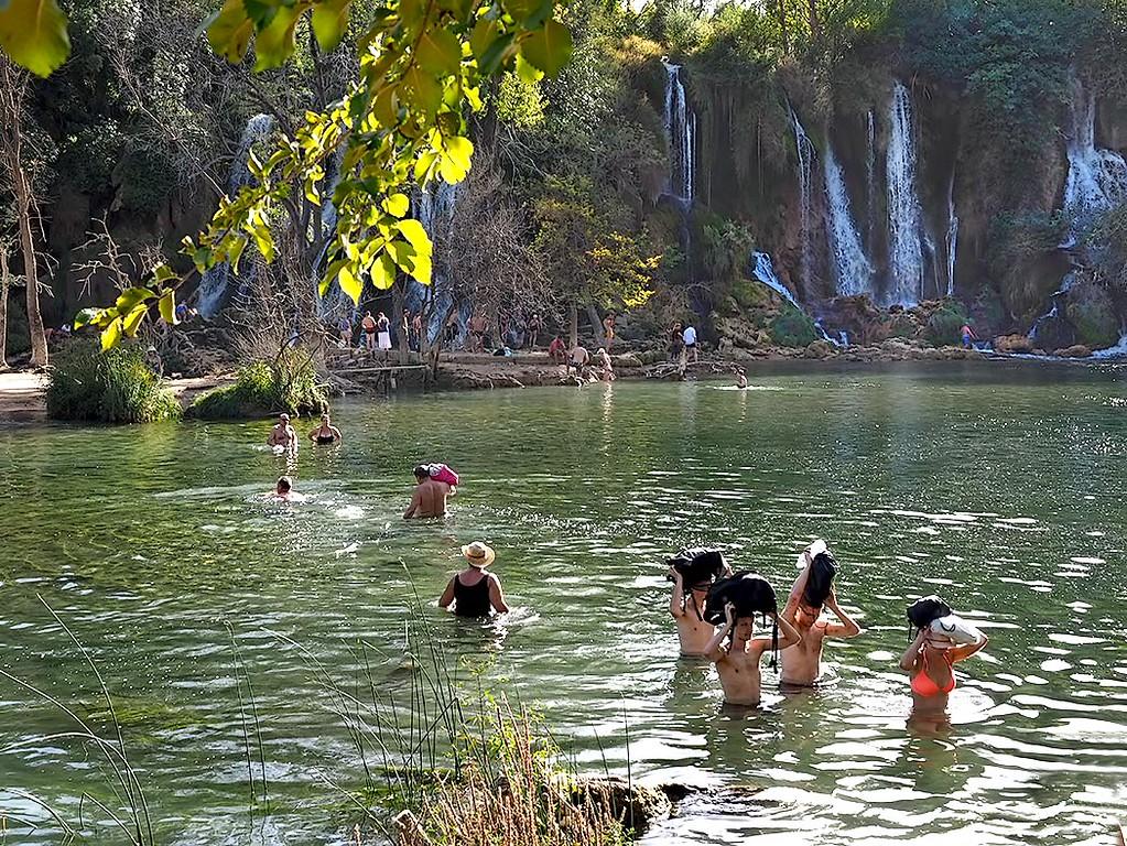 Kravice Waterfall on the Trebizat River, in the southwest corner of Bosnia-Herzegovina