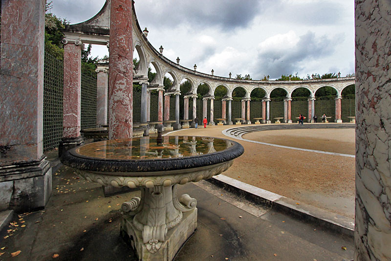 One of many stunning gardens at Versailles Palace, near Paris, France