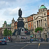 O'Connell Street, the main thoroughfare in Dublin, Ireland, is named in honor of Daniel O'Connell, a nationalist leader of the early 19th century. His statue stands at the center.